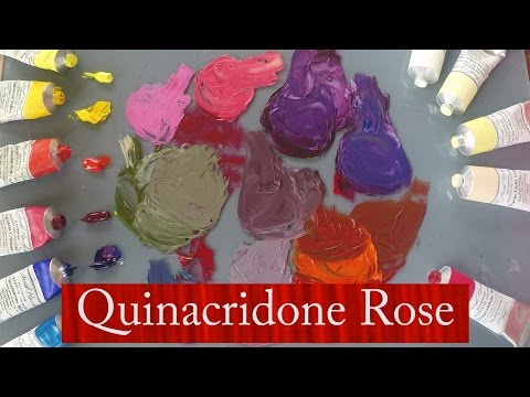 Michael Harding's Quinacridone Rose demonstrated by Vicki Norman