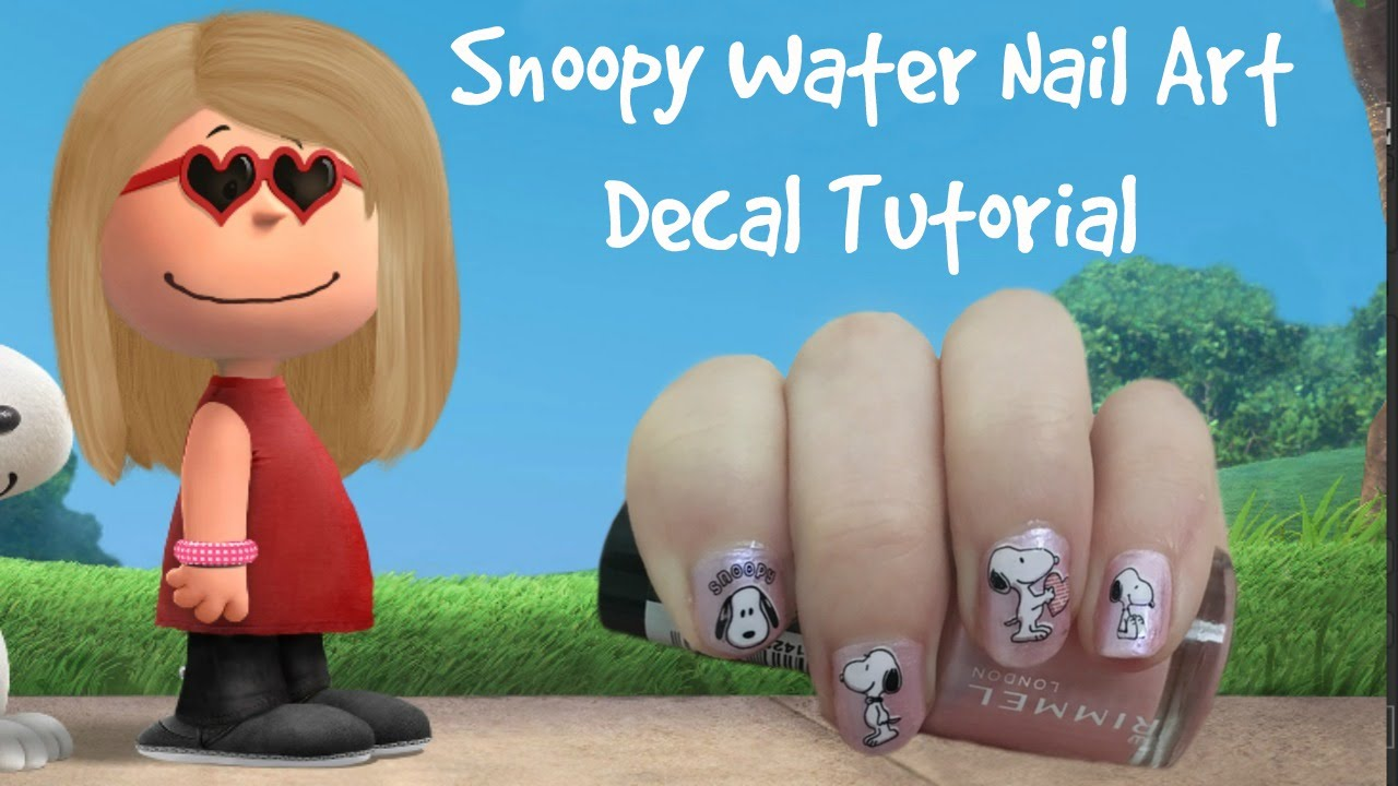 Snoopy Water Nail Art Decal Sticker Tutorial Beauty Jamm