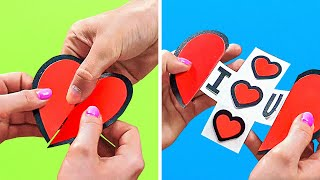 24 DIY CARDS - CUTE YET CHEAP GIFTS FOR A VALENTINE'S DAY