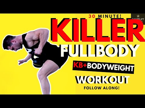 HIIT Full Body Kettlebell Workout at Home| Body weight Workout Kettlebell Cardio Strength Workout