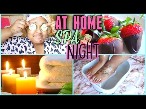 ♡ At Home Spa Pamper Night + DIY Face Mask♡ BrianaLeeBeauty