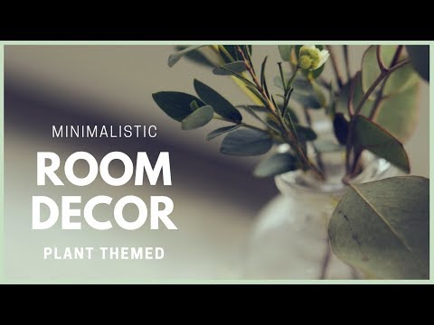 DIY Minimalist Style & Plant Themed Room Decor Ideas | How to Make Vases & Pots with Concrete