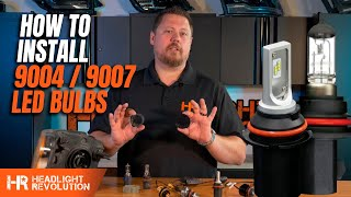 How To Install 9004 Or 9007 Led Headlight Bulbs Tips And Tricks From Headlight Revolution Youtube
