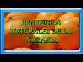 Beneficios naturales de la naranja