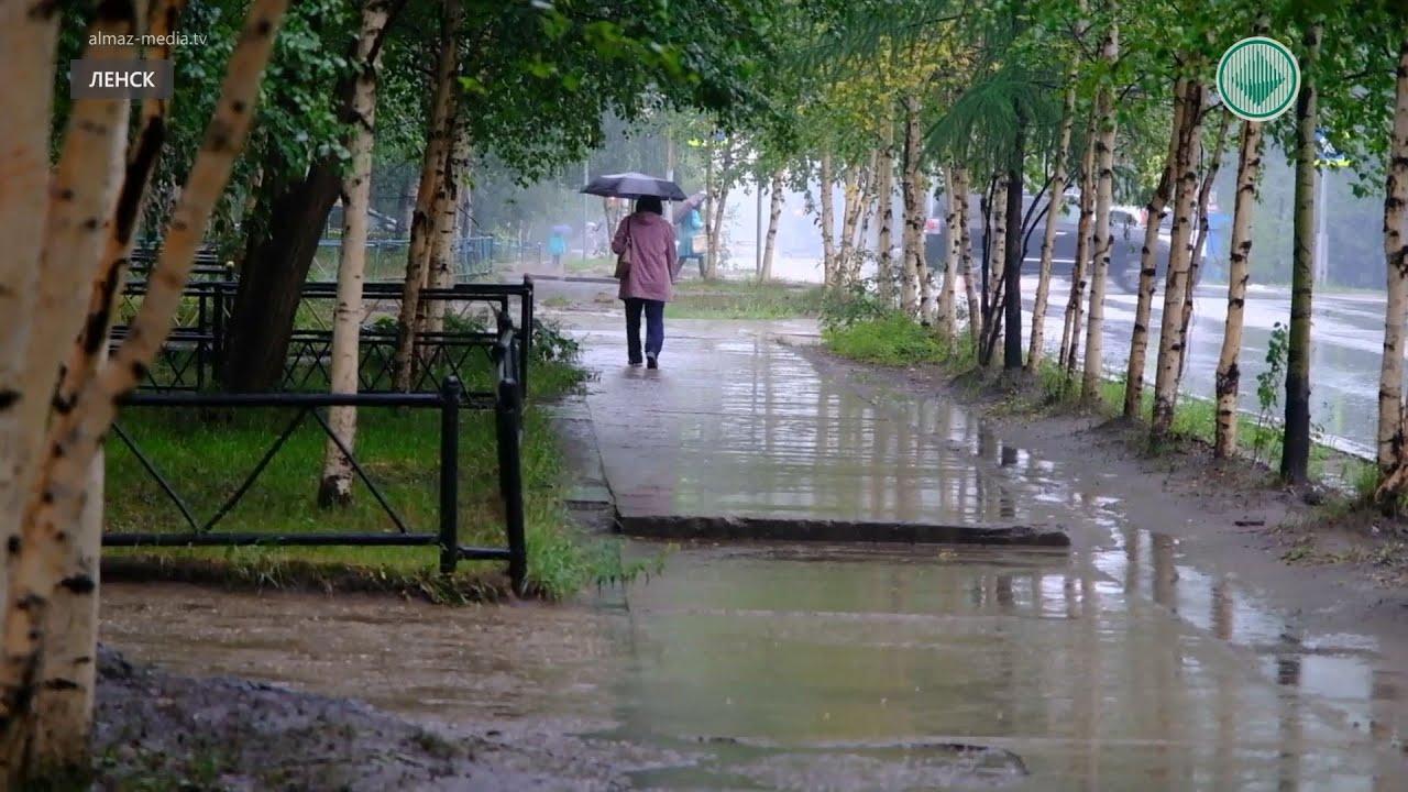 В Ленске прошел долгожданный дождь