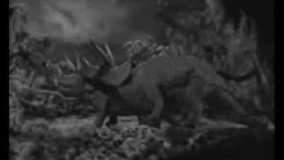 The Lost World (1925) with sound!: Hunt of Allosaurus