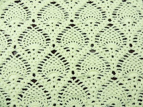 Crochet: Punto Piña Recto - YouTube