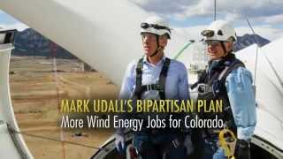 Television ad thanks Colorado Senator Mark Udall for supporting American wind power