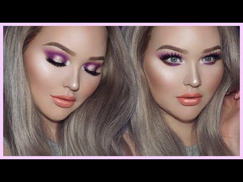 Nikkietutorials Makeup Looks >> Purple Glam Smokey Eyes Too Faced X Nikkietutorials Collection Tutorial