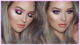 Purple glam smokey eyes - too faced x nikkietutorials collection tutorial