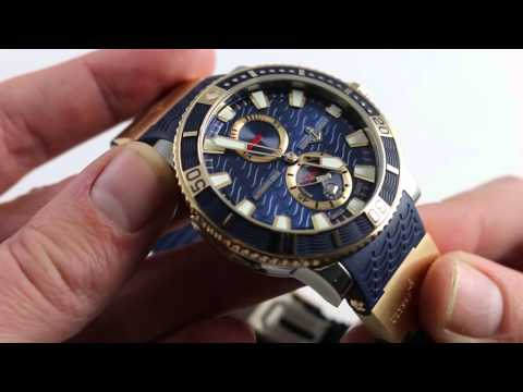 Ulysse Nardin Marine Diver Titanium-Rose Gold Luxury Watch Review