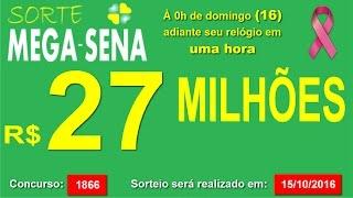 PALPITE MEGA SENA - 1866 #SorteMegaSena - sábado