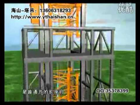 塔式起重機就是這樣長高的