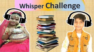Whisper Challenge Between Brother and Sister I FunWithAnaghAadriti I #Fun #Comedy #Good