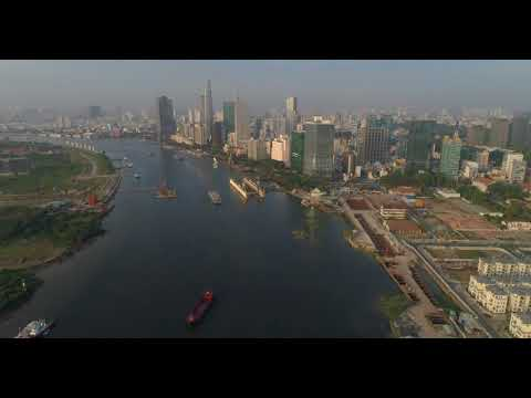 Saigon River, Day and Night 2018 (By DJI Mavic Pro)