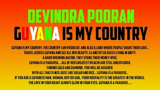 Devindra Pooran - Guyana Is My Country [Happy Independence Day Guyana] 🇬🇾
