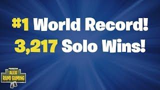 #1 World Record 3,217 Solo Wins | Fortnite Live Stream thumbnail