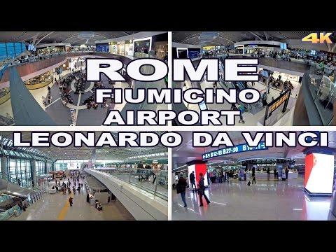 LEONARDO DA VINCI - FIUMICINO AIRPORT , ROME , ITALY 2017 4K