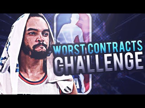 -130 MILLION CAP SPACE!? WORST NBA CONTRACTS CHALLENGE! NBA 2K17