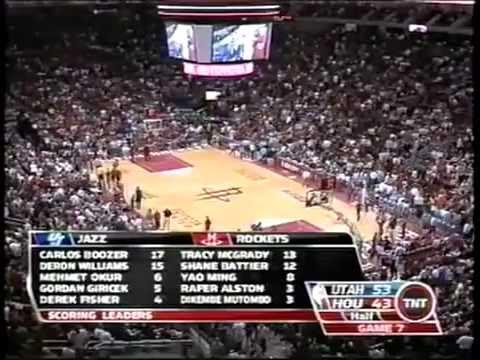 2007 First Round Game 7 - Jazz @ Rockets - Mcgrady vs Deron