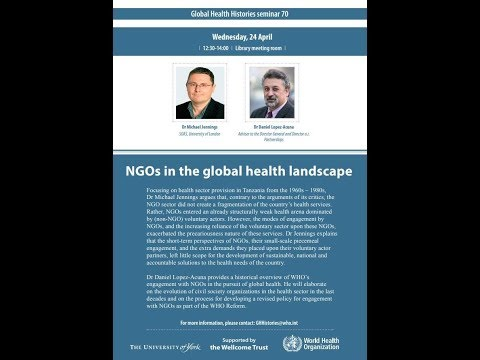 Global Health Histories seminar 70: NGO contributions to global health