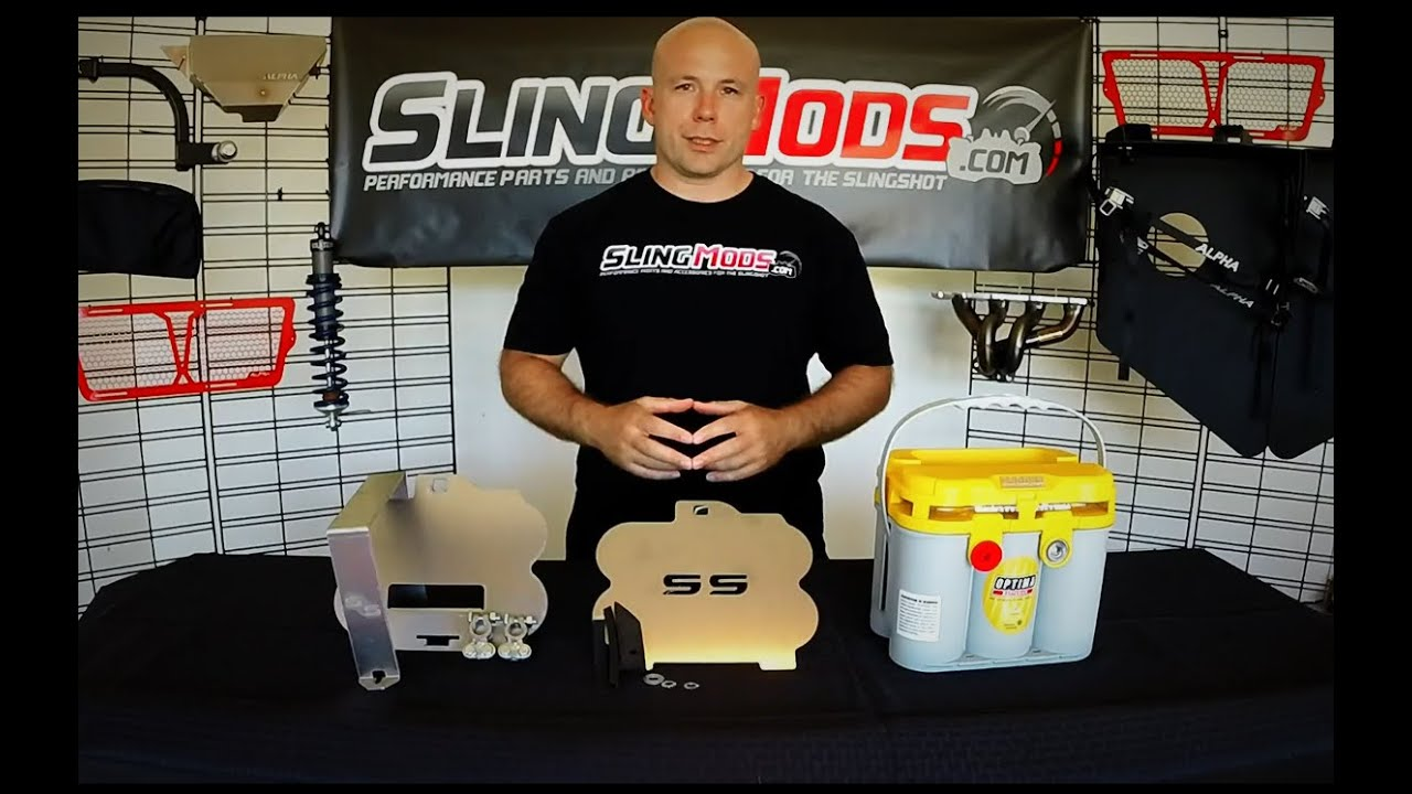 Polaris Sling Shot >> Polaris Slingshot Optima Battery Tray Install by Slingmods! - YouTube