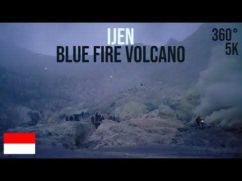 Ijen – Blue Fire Volcano sunrise VR 360° (Indonesia)