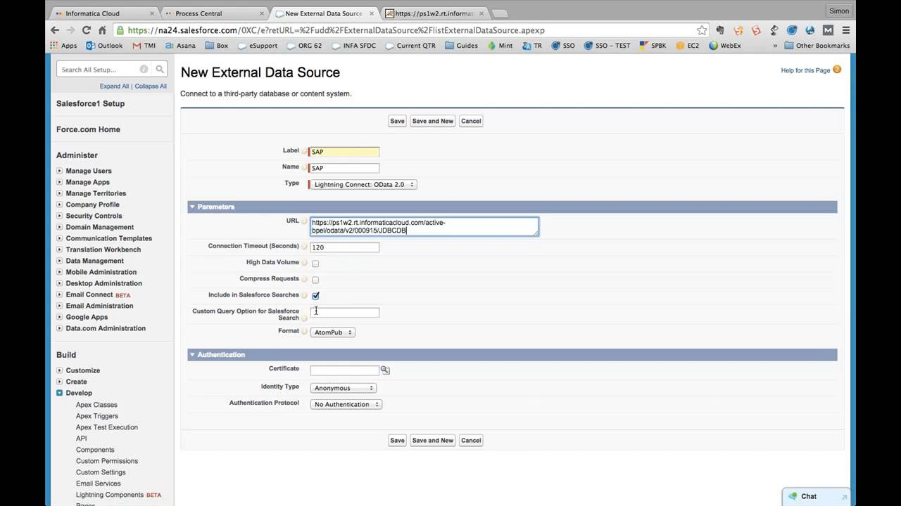 how to connect informatica to salesforce