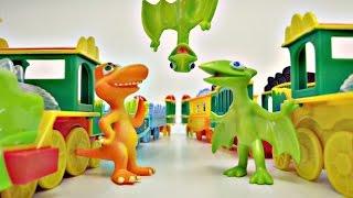 Приключения динозавриков: сломанный поезд. Видео для детей