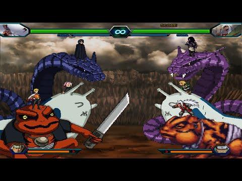 Team 7 VS Team Sannin - Bleach Vs Naruto 3.3 (Modded)