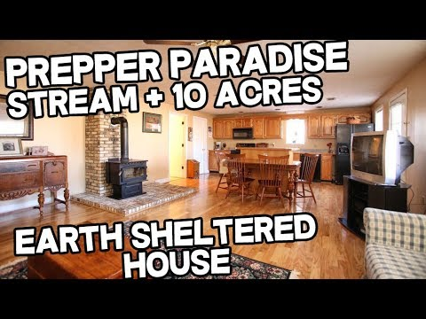 Prepper Paradise Earth Sheltered home on 10 acres with