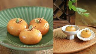 한국식 도너츠🥯🍩 조청시럽이 입안 가득 너무 맛있어~ 달콤 쫀득 개성주악:: 우메기떡 Korean Style Donut