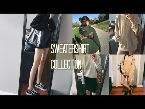 Eva|Sweatshirt Collection 2016 Fall|秋天卫衣分享|13 Month, Urban Outfitters, H&M, Supreme, Champion|