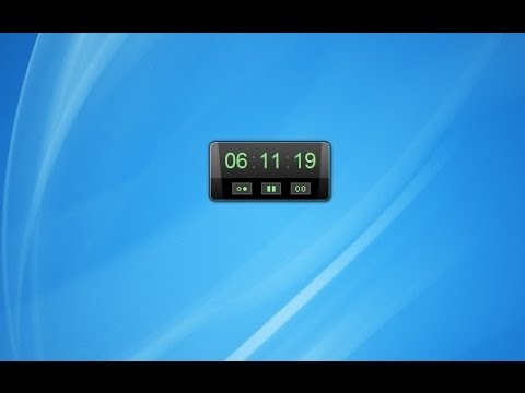Work / Break Cycle Timer Windows 7 Desktop Gadget