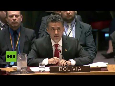 Histórica intervención de Bolivia en la ONU por el ataque de EE.UU. en Siria (COMPLETO)