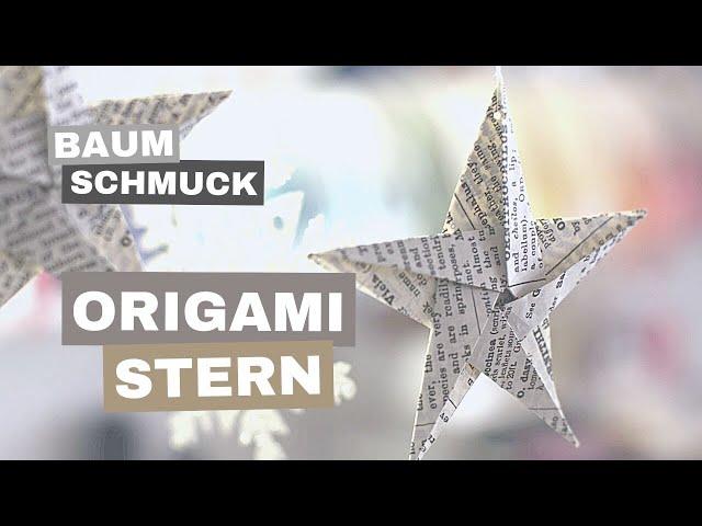 Weihnachtsbaum Schmuck Aus Papier Selber Falten 4 Einfache Anleitungen