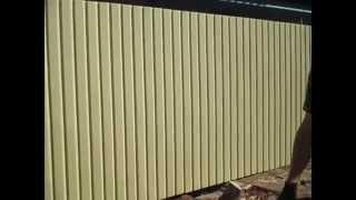Как сделать забор своими руками(Забор своими руками из подручного материала, забор из винила., 2015-06-18T07:32:56.000Z)