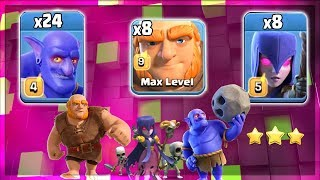 TH12 Strategy 2019! +24 Bowler +8 Witch +8 Giant Destroy 3Star Max TH12 Base | Clash Of Clans