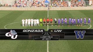 Highlights - Gonzaga Men's Soccer vs UW (8-29-14)