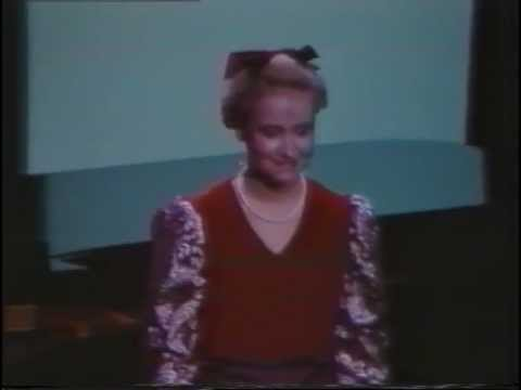 1987: Anne Fisch, soprano opera singer, in the Finals of the Australian Singing Competition