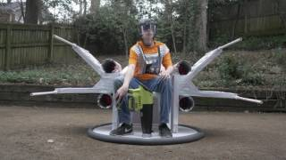 Best Science Fair project ever, REAL Flying X-Wing Hovercraft
