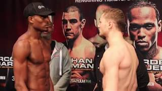 INTENSE! ZAK CHELLI v UMAR SADIQ *FULL & OFFICIAL* WEIGH-IN / FINAL HEAD-TO-HEAD / BRENTWOOD