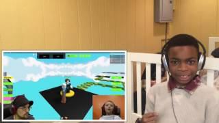 Reacción de la reacción de la ESCAPE SANTA OBBY! Roblox #13 Minecraft Lucky Block Race Challenge Game!