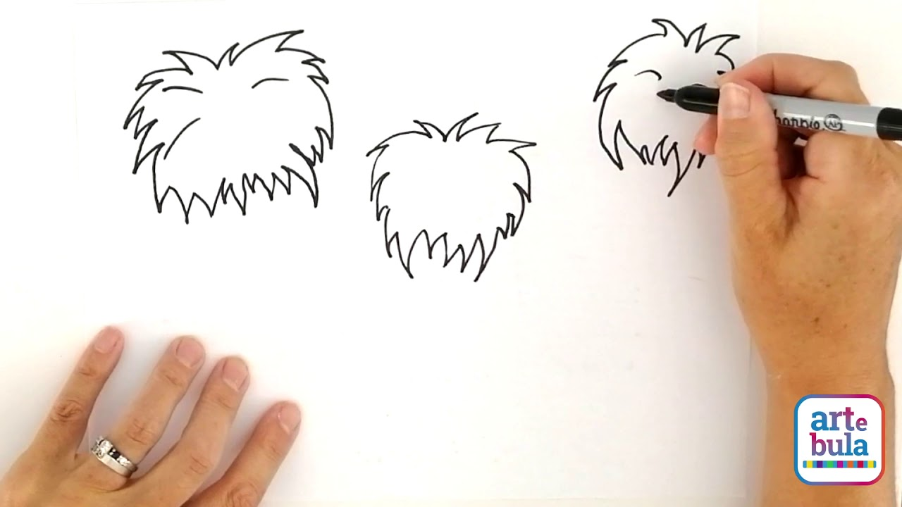 How to Draw Dr Seuss Trees