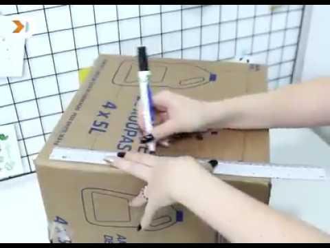 diy comment faire une cuisine pour enfants en carton youtube. Black Bedroom Furniture Sets. Home Design Ideas