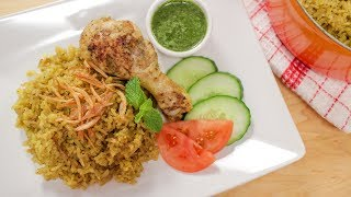 Thai Chicken Biryani (Kao Mok Gai) ข้าวหมกไก่- Hot Thai Kitchen!