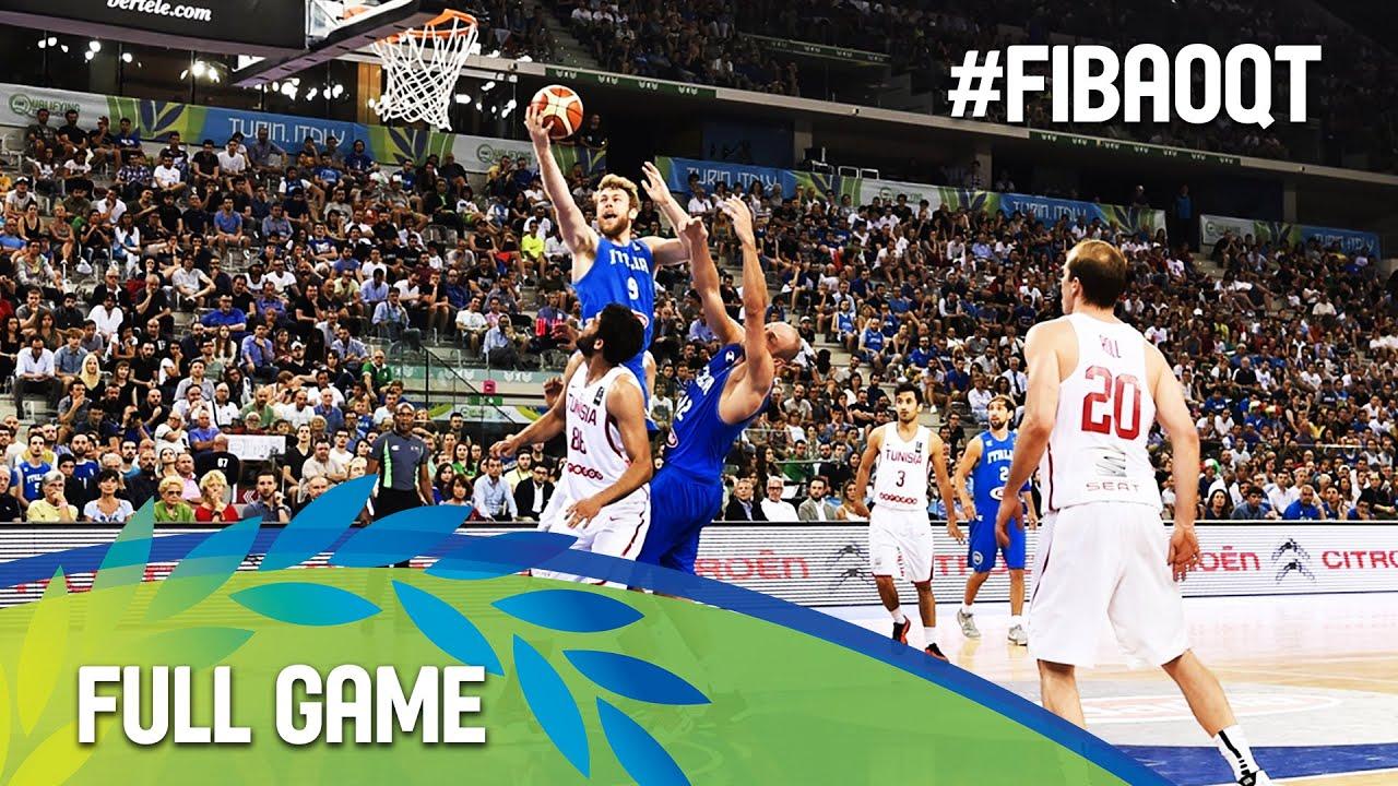 Tunisia v Italy - Full Game - 2016 FIBA Olympic Qualifying Tournament