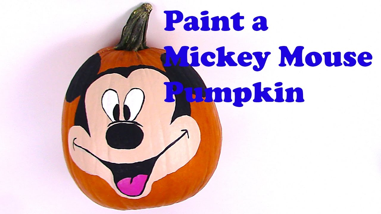 Mickey mouse painting pumpkin how to face paint mickey for How to paint a mickey mouse pumpkin