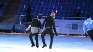 "Plushenko "" Kings on Ice""репетиция  Королей 31.03.10 Москва"