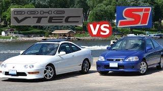 Honda Battle Bros: 2000 Honda Civic Si vs. Acura Integra GS-R